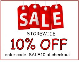 SALE - 10% DISCOUNT STORE WIDE