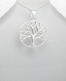 Tree of Life Pendant | Sterling Silver Tree of Life Pendant 28mm