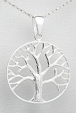 Tree of life pendant sterling silver tree of life pendant 28mm mozeypictures Choice Image