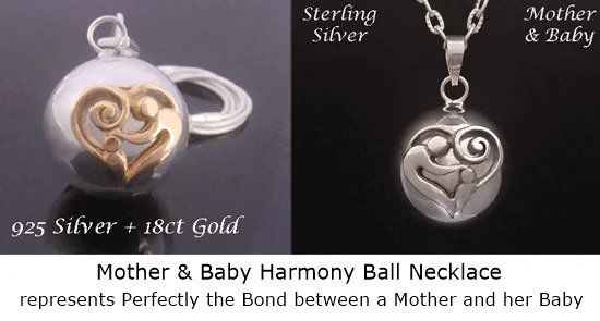 Mother and Baby Harmony Ball Necklace