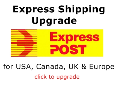 Priority Shipping Upgrade to USA, Canada, U.K. N.Z. H.K & Europe